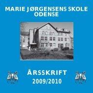 ÅRSSKRIFT 2009/2010 - Marie Jørgensens Skole