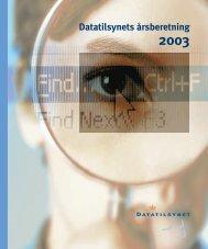 """Data """"rsberet. 2003 rent - Datatilsynet"""