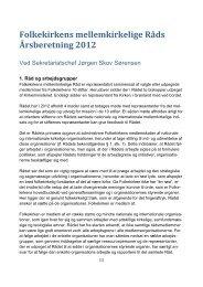 Folkekirkens mellemkirkelige Råds Årsberetning 2012 - fyensstift.dk