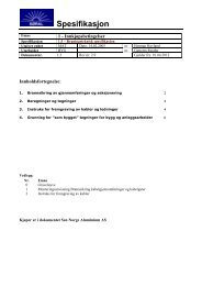 1.5 – Bygningsteknisk spesifikasjon - Sør-Norge Aluminium AS