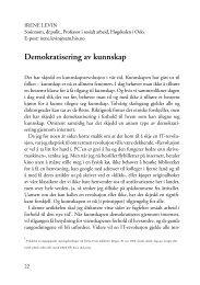 Demokratisering av kunnskap - FO