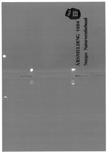 Dokumenter/rapporter/Årsmelding 1984.pdf - Norges ...