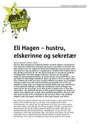 Eli Hagen – hustru, elskerinne og sekretær