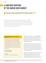 a SnapShot Mapping of the DaniSh Beer Market - Scandbrewrev.dk