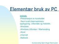 Elementær bruk av PC - Bjørn Roger Rasmussen
