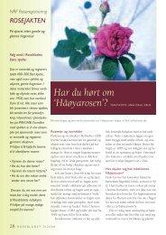 Rosebladet mal - Skog og landskap