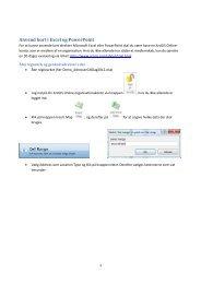 Anvend kort i Excel og PowerPoint