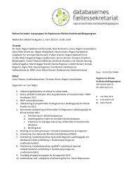 Referat fra møde i styregruppen for Regionernes ... - Danske Patienter