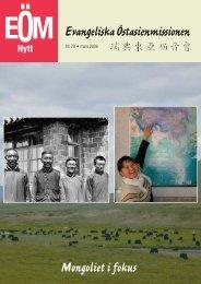 EÖM Evangeliska Östasienmissionen Mongoliet i fokus