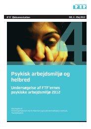 Psykisk arbejdsmiljø og helbred - Handelsskolernes Lærerforening