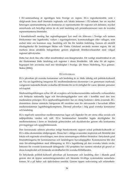 """""""Självstyrelse på lokal och regional nivå""""Nytt fönster. - Västra ..."""