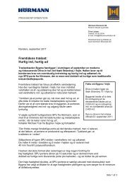 Download pressemeddelelse (pdf) - Hoermann.dk