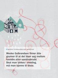 Wenke Gulbrandsen finner åtte grunner til at det låser seg mellom ...