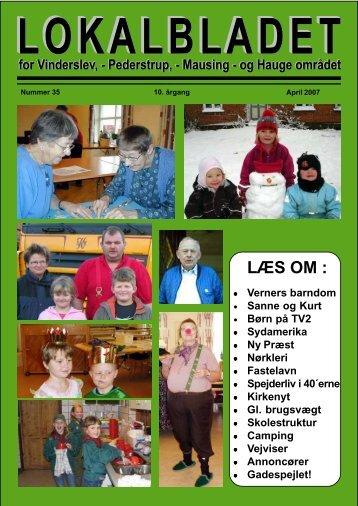 LÆS OM : - Lokalbladet - For Vinderslev-, Pederstrup-, Mausing