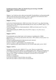 ØKA211 - Finansiering og investering - 11062008