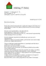 Afdeling 37 (Solo) - Boligforeningen B42