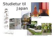 Studietur til Japan - Boyes Fond