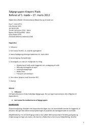 Referat af møde 27. marts 2012 - NCC