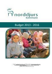 Trykt budget 2013 - Norddjurs Kommune