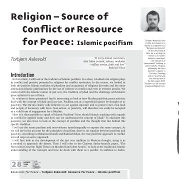 essay on religion a source of peace Religion essays: sources of islamic law search islam takes this notion of peace and obedience and applies the primary source of islamic law which is the.