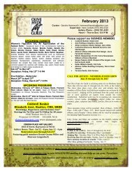 Newsletter February 2013 - Olive Hyde Art Guild