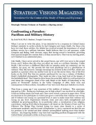Pacifism and Military History - Temple University