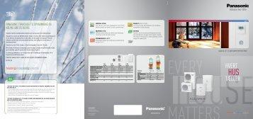 Varmepumpe - produktlinje - Panasonic