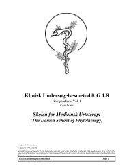 Modul G1.8 Klinisk Undersøgelsesmetodik I - Asclepius.dk