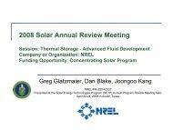 Concentrating Solar Program; Session: Thermal Storage ... - NREL