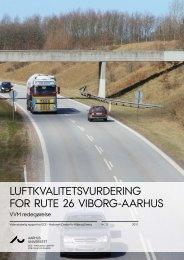 Luftkvalitetsvurdering for rute 26 Viborg- Aarhus - DCE - Nationalt ...