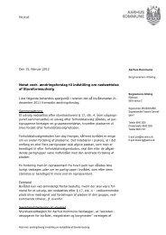 Notat vedr. ændringsforslag til indstilling om nedsættelse af ...