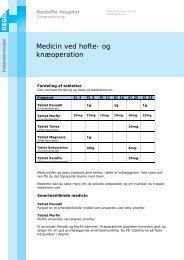 Medicin ved hofte- og knæoperation - EPIS - Gentofte Hospital
