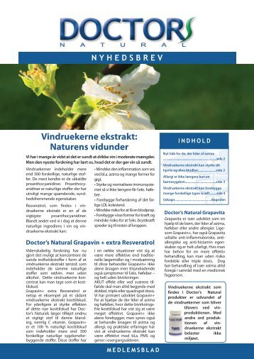 Vindruekerne ekstrakt: Naturens vidunder - Doctor's Natural