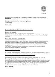 Referat fra bestyrelsesmøde 10. august 2011 - nummer 77