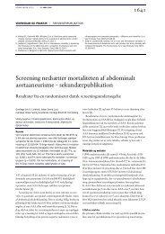 Screening nedsætter mortaliteten af abdominalt aortaaneurisme ...