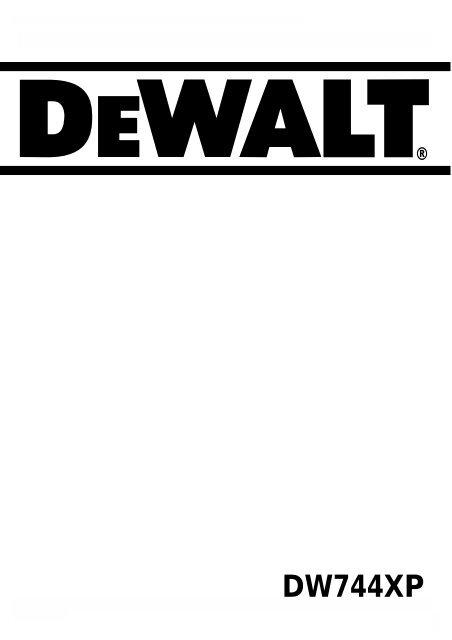 Φυλλάδιο οδηγιών - Service - Dewalt.no