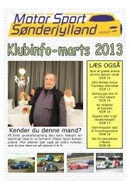 Klubinfo – Marts 2013 - Motor Sport Sønderjylland