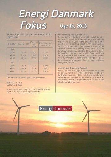 Energi Danmark Fokus uge 16 - 2013 - Energi Salg Norge
