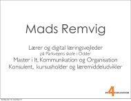 Mads Remvig: Odder kommunes erfaringer med iPad - Uddannelsesforum ...