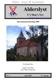 Nr.: 2, April - Dette er: Testside for Alderslyst Y's Men's Club