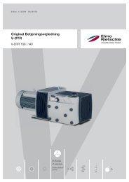 Original Betjeningsvejledning V-DTR - Elmo Rietschle