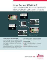 Leica Cyclone SERVER 6.0 Standalone Server Software for Optimal ...