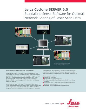 Leica Cyclone SERVER 6.0 Standalone Server Software for Optimal ...