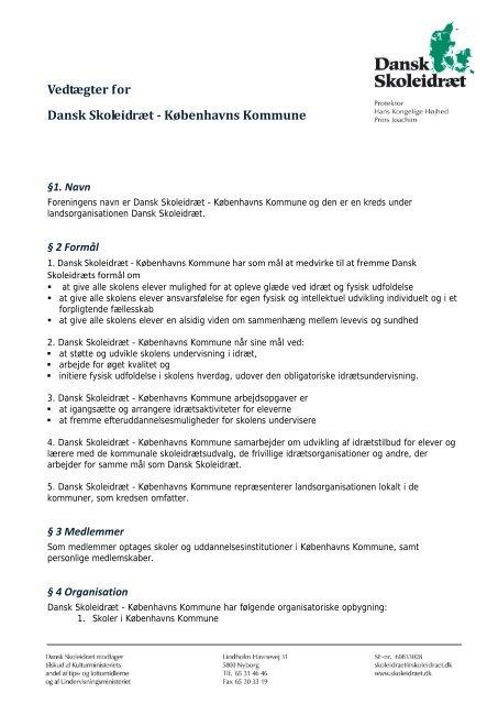 Download vedtægter - Dansk Skoleidræt