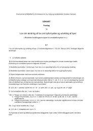 Lovforslag til ændring af byfornyelsesloven - ABF