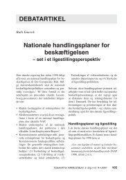 Nationale handlingsplaner for beskæftigelsen ... - Nyt om Arbejdsliv