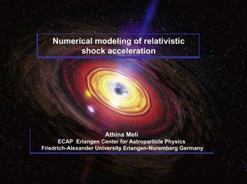 Numerical modeling of relativistic shock ... - ECRS 2010 Turku