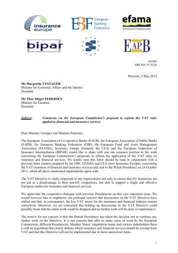 Brussels, 3 May 2012 Ms Margrethe VESTAGER Minister for ...