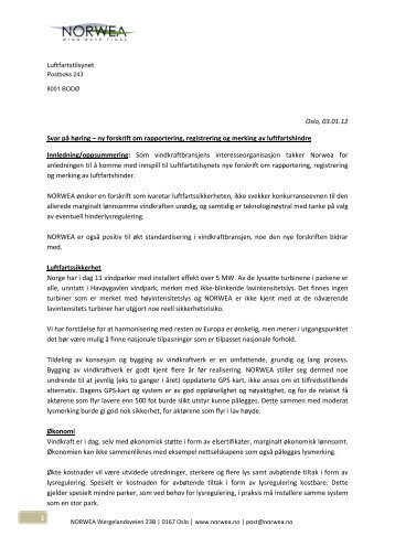 Dok 39 - NORWEA.pdf - Luftfartstilsynet