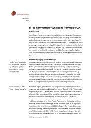 El- og fjernvarmeforsyningens fremtidige CO2 ... - Ea Energianalyse